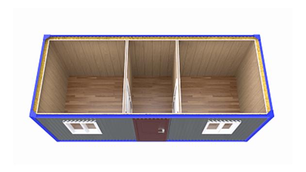 Бытовка вагончик, металлический блок контейнер — 6 м распашонка